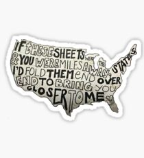 All Time Low - If Theses Sheets Were States Sticker