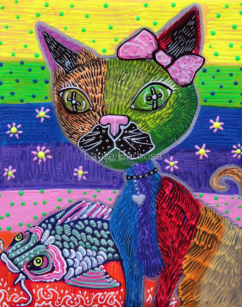 The Cat and The Koi by Laura Barbosa