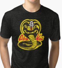 The Karate Kid - Cobra Kai Logo Tri-blend T-Shirt