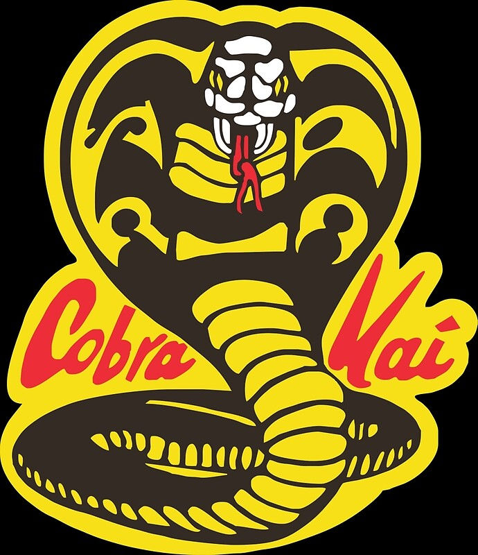 Quot The Karate Kid Cobra Kai Logo Quot Framed Prints By