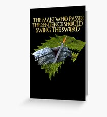Ice - Ned Stark Quote Greeting Card