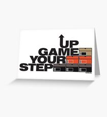 Step Your Game Up Sneakerhead by AiReal Apparel Greeting Card