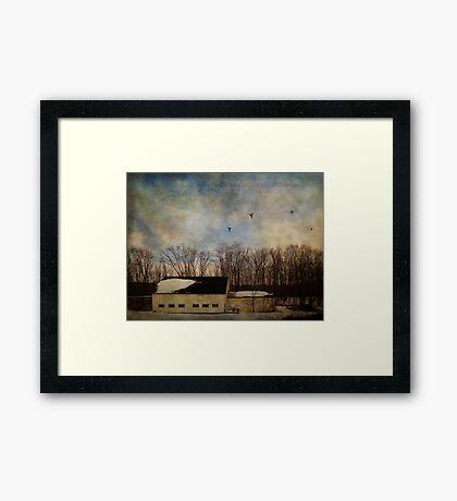 Eleazer Harding Barn Framed Print