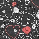 Chalk hearts pattern by oksancia