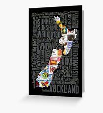 New Zealand NZ Aotearoa Stamp Greeting Card