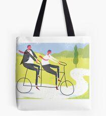 Ride a Tandem Bike Tote Bag
