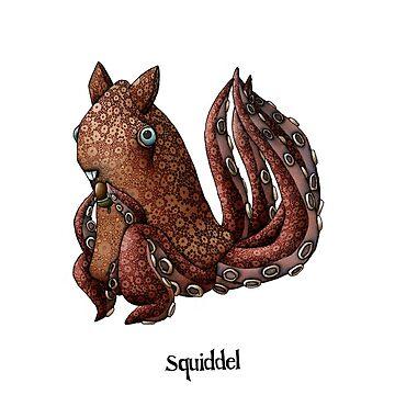 Squiddel Illustration by mikelevett