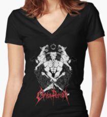 CAPRA DEMON Women's Fitted V-Neck T-Shirt