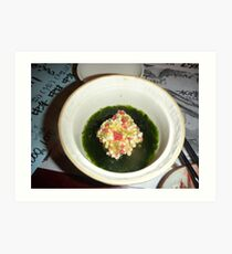 Another of many courses. Dinner at Jozankei, Hokkaido Art Print