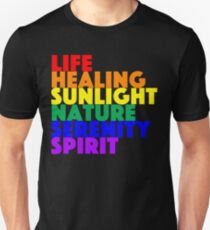 LGBT Flag Color Meanings Unisex T-Shirt
