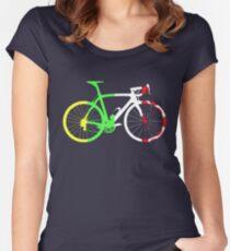 Bike Tour de France Jerseys (Vertical) (Big)  Women's Fitted Scoop T-Shirt