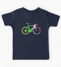 Bike Tour de France Jerseys (Vertical) (Big)  Kids Tee