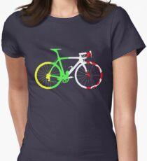 Bike Tour de France Jerseys (Vertical) (Big)  Women's Fitted T-Shirt