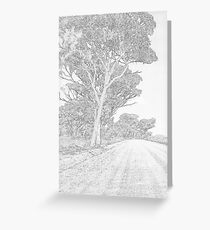 Outback Road Greeting Card