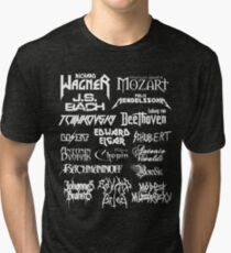 Heavy Metal-style Classical Composers Tri-blend T-Shirt