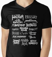 Heavy Metal-style Classical Composers Men's V-Neck T-Shirt