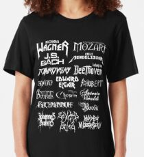 Camiseta ajustada Compositores clásicos de estilo heavy metal