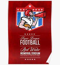 American Football Quarterback Bullhorn Poster Art Poster