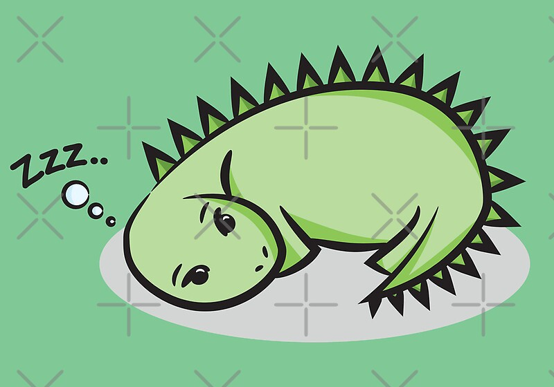 Quot Sleeping Dinosaur Quot By Lauramazing Redbubble