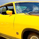 Yellow Ford XA coupe by Norman Repacholi