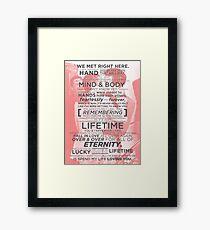 Fearlessly & Forever Framed Print