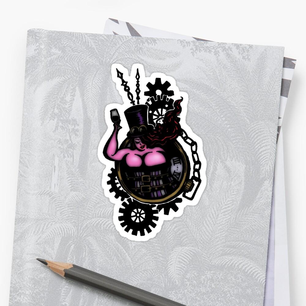 BBW - Buxom Steampunk Tart (colour version) by twistytwist