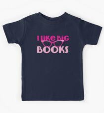 I LIKE BIG BOOKS in pink with cute eye glasses Kids Clothes