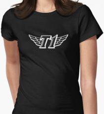 SKT T1 white huge logo Women's Fitted T-Shirt