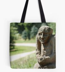 Guardian of the forrest road Tote Bag