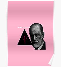 Pink Freud theme - perfect gift for psychologists! Poster