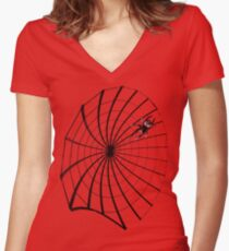 Spidey  Women's Fitted V-Neck T-Shirt