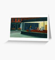 Art Giraffe- Nighthawks Greeting Card