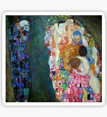 Gustav Klimt - Tod und Leben Sticker