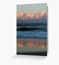 Clouds Above and Below Palm Beach Greeting Card