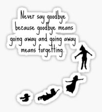 Peter Pan Quote  Sticker