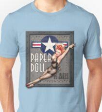 """Paper Doll"" WWII Nose Art Unisex T-Shirt"