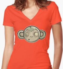 That Zombie Monkey Tho Women's Fitted V-Neck T-Shirt