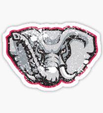 Distressed University of Alabama Crimson Tide Elephant Logo Sticker