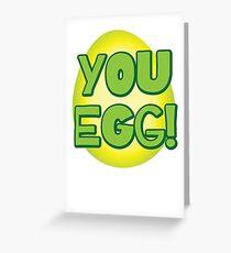 You EGG! with cracked egg NEW ZEALAND KIWI funny design Greeting Card
