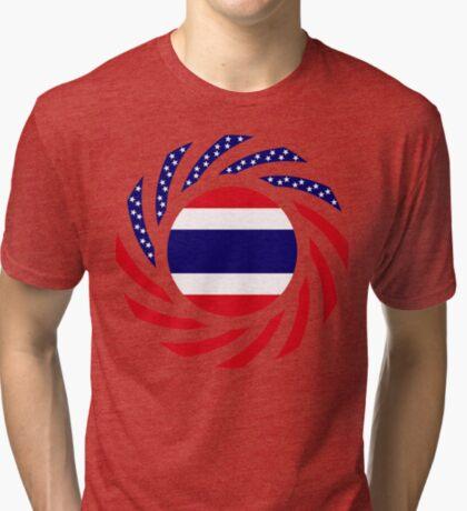 Thai American Multinational Patriot Flag Series Tri-blend T-Shirt