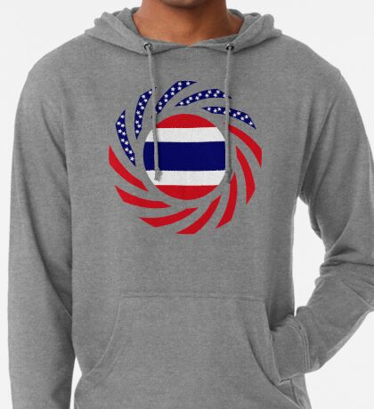 Thai American Multinational Patriot Flag Series Lightweight Hoodie