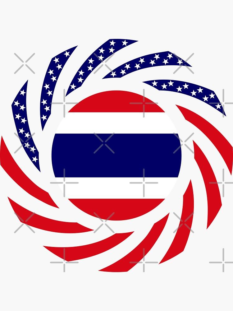 Thai American Multinational Patriot Flag Series by carbonfibreme