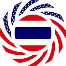 Thai American Multinational Patriot Flag Series by Carbon-Fibre Media