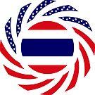 Thai American Multinational Patriot Flag Series by Carbon-Fibre Media