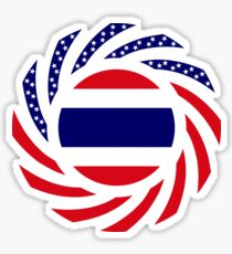 Thai American Multinational Patriot Flag Series Sticker