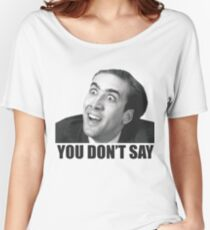 Nicolas Cage Meme T-shirts coupe relax