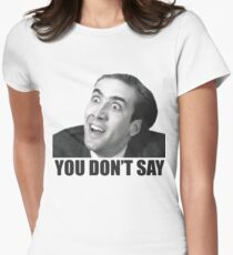 Nicolas Cage Meme Women's Fitted T-Shirt