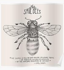 Steampunk - Save the Bees Poster