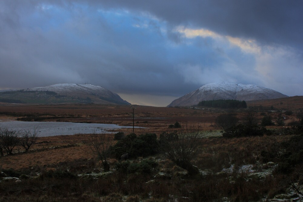 Lough Mourne and Barnes Gap in Winter by Adrian McGlynn
