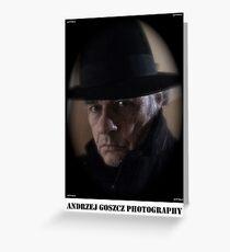 Andrzej Goszcz  (Brown Sugar) Photography. Self portrait. Greeting Card